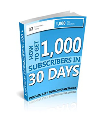 How To Get 1000 Sucribers on 30 days ( E-BOOK,PDF VERSION) MOTIVATION STEPS