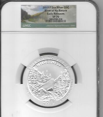 2019 5oz SILVER 25C River of No Return NGC SP 70 Early Releases