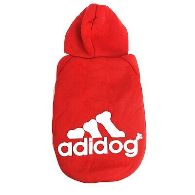 Adidog Small Dogs Puppy Apparel Red Hoodie Sweater Warm T Shirt Pet Hoodies