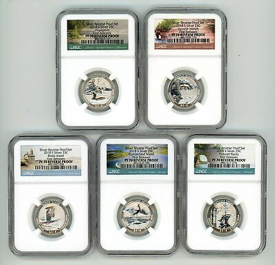 2018 S Silver Quarters Set 25C Reverse Proof Ngc Pf70 First Releases 082