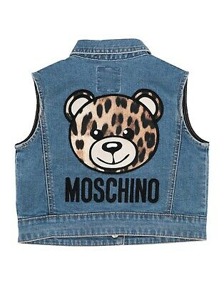 BNWT Moschino denim gilet jacket age 5 blue bear coat