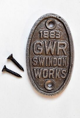 Small Oval Great Western Railway Swindon Cast Iron Plaque Gwr Metal Sign Cb4
