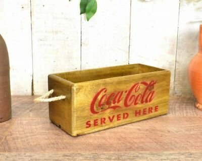 Vintage antiqued wooden box, crate, trug, SMALL BOX, COCA COLA