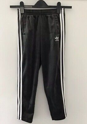 Adidas Girls Grey Velour Tracksuit Bottoms Age 9-10 Years