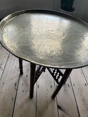 Antique Moroccan copper/ brass table absolutely beautiful middle eastern