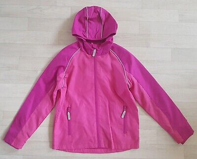 PINK RAINCOAT age 9 - 10 shower resistant GEORGE summer jacket REFLECTIVE TRIM