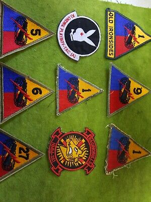 Lot Of 9  Various  U.s. Army Patches. All Colored Patches. Nice Condition  (Dd)