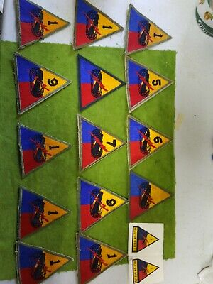Lot Of 15 Various  U.s. Army Patches. All Colored Patches. Nice Condition  (Ee)