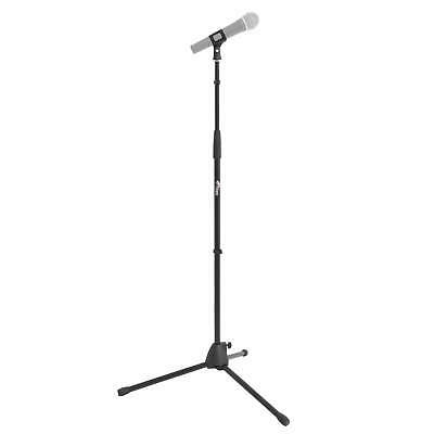 Tiger Straight Microphone Stand with Tripod Base - Adjustable Mic Stand - Black