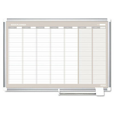 MASTERVISION  Magnetic Dry Erase Weekly Planner Board, 36x24 NIB