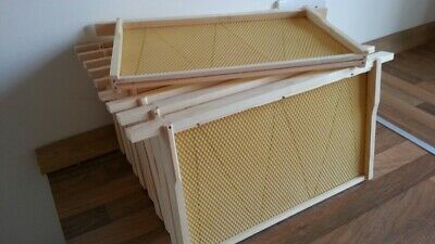 National bee hive brood frames & foundation DN5 fully assembled set.