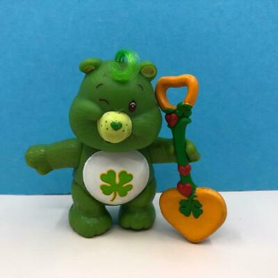 Vintage Care Bears Good Luck Bear Green Poseable Toy Action Figure 100% 1980s