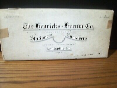 The Henricks - Byrum Co. Manufacturing Stationers Engravers Louisville Kentucky
