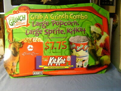 2000 How The Grinch Stole Christmas Movie Theatre Hershey Candy Display Sign