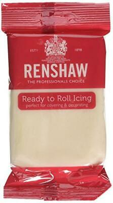 Renshaw Fondant Icing Sugar Paste Ready To Roll For Cake 500g or 1kg CHAMPAGNE