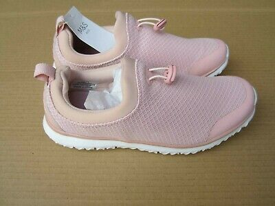 M&S Girls Pink Trainers, Size: UK4