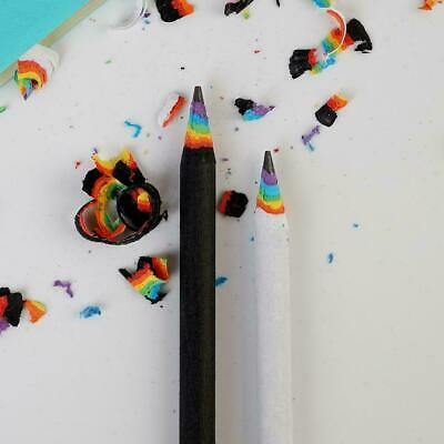 Rainbow Colored Pencil Drawing Painting Pencils Student Stationery S1H2 Kid T3H1