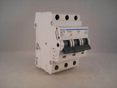 Hager MCB 16 Amp Triple Pole 3 Phase Circuit Breaker Type B 16A 462316 NB316