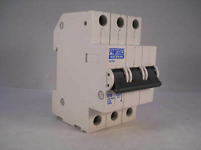 Proteus MCB 16 Amp Triple Pole 3 Phase Breaker Type C 16A Geyer 31016/3