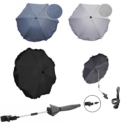 Baby sun UMBRELLA PARASOL pushchair pram stroller shade canopy  Black Grey