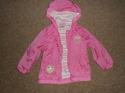 NEXT Girls Raincoat Cotton Lined Jacket Coat Size 3-4 yrs 104 cm Lightweight