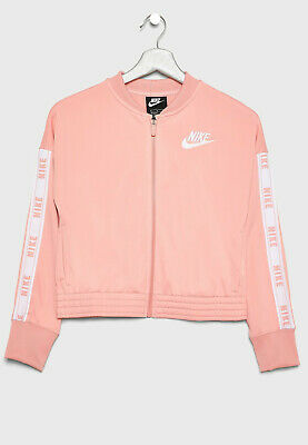 Nike Girls Women Tracksuit Top Salmon Pink *Brand New with Tags, UK Seller*
