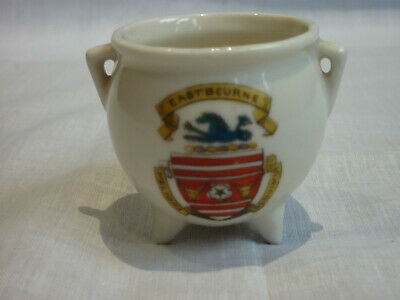 Eastbourne Crested china model of an ancient Irish bronze pot