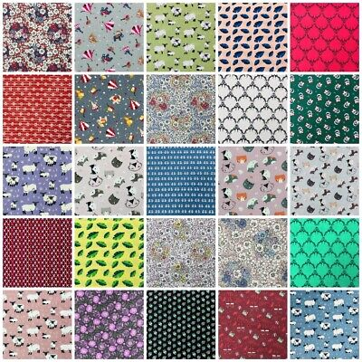 100% Cotton Fabric Fat Quarters Quilting Sewing Crafts Homemade Masks Hats Bags