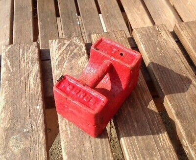 Vintage Cast Iron 7lb Weight - Fab Doorstop or Paperweight Good Condition