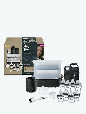 Tommee Tippee Closer to Nature Complete Feeding Set Electric Steriliser - Black