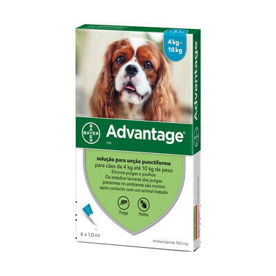 Bayer Adv. 100 for Mediuml Dogs 4 Pipettes   FREE SHIPPING
