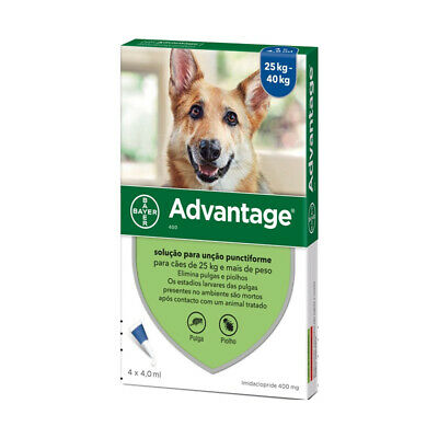 Bayer Adv. 400 for Extra Large Dogs 4 Pipettes   FREE SHIPPING