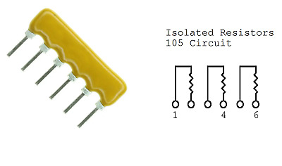 Resistor Networks /& Arrays 390ohm 8Pin Isolated 5 pieces
