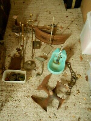 JOB lot of victorian and vintage cast iron items