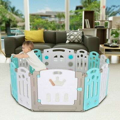 Baby Playpen Kids Activity Centre Safety Play Yard Home In/Outdoor 14 Panel US