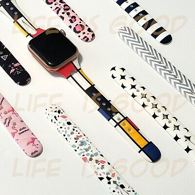 Soft Silicone Multicolor Band Compatible with Apple Watch Series 5, 4, 3, 2, 1