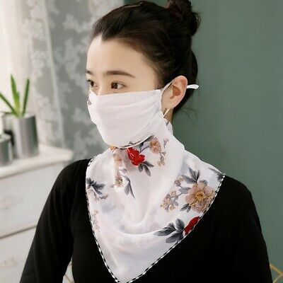 2020 NEW Style Face Mask Summer Silk Scarf Neck Mask Sun Protection Mouth Cover