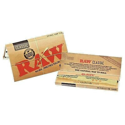 Raw Classic Natural Doppie - Scatola Da 12 Libretti 1200 Cartine