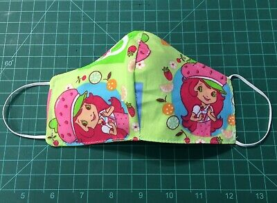 2 x Handmade Cotton Fabric Washable Face Mask Cover with Filter