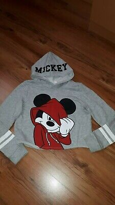 Girls h&m Micky Mouse cropped hoodie age 10/12 years