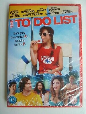 The To Do List (DVD, 2014) Maggie Carey, Aubrey Plaza, New and Sealed