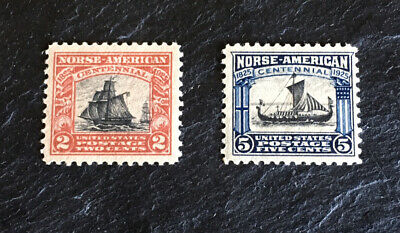 US Scott #620-#621 mint never hinged 1925 Norse-American Issue og vf