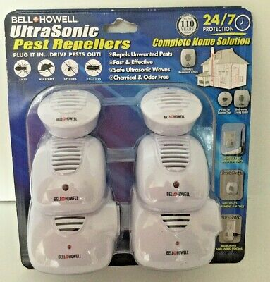 New Ultrasonic Pest Repellers 6 Chemical Odor Free Micro, Classic, xtra Outlet
