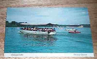 Geauga Queen Lake Park vintage post card Aurora Oh.