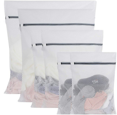 6 Zipped Mesh Wash Bag - Perfect Solution for Washing Lingerie and Delicates