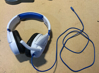 Turtle Beach Ear Force Recon 70P Gaming Headset PS4 XBox One White Broken Plug