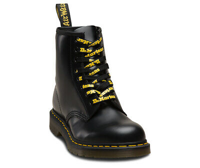 Dr. Martens Logo Laces 55`` (8-10 Eyelets) Shoe Care Black Yellow One Size New
