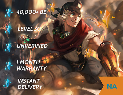 CHEAPEST League of Legends Account NA 40k+ BE Unranked Unverified
