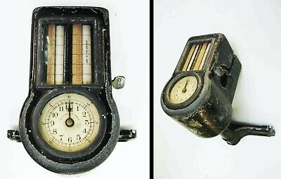 "c1900 2-Dial MEASUREGRAPH CO ""MEASUREGRAPH"" Cloth-Linen-Fabric Measuring Device"