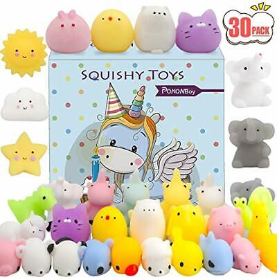 POKONBOY Squishies Mochi Squishy Toys Party Favors for Kids, 30 PCS Mini